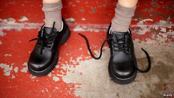 Shoelaces untied